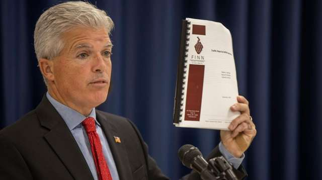 Suffolk County Executive Steve Bellone releases the results