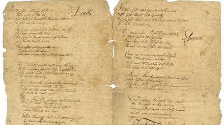 "Jupiter Hammon's ""A Poem on Sickness, Death and"