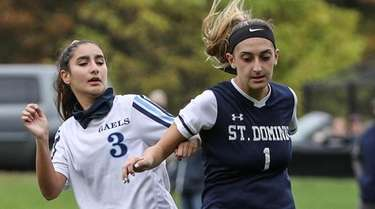 St. Mary's Isabel Dendroso (left) and Daniella Cavallone