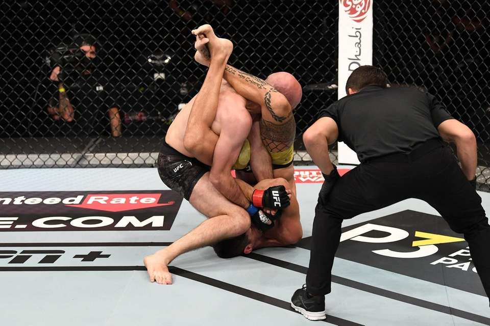 In this handout image provided by UFC, (R-L)