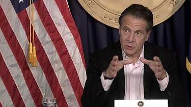 Gov. Andrew M. Cuomo gives a coronavirus briefing