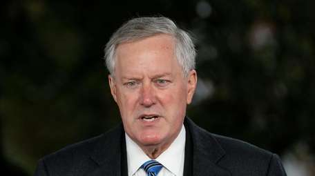 Mark Meadows, White House chief of staff, outside
