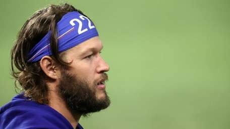 The Dodgers' Clayton Kershaw after a 4-2 victory