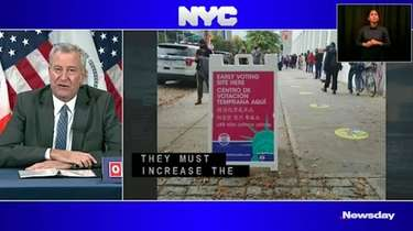 Mayor Bill de Blasio on Monday called for
