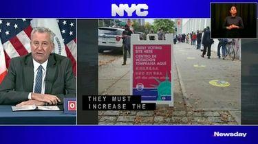 Mayor Bill de Blasio on Monday called for