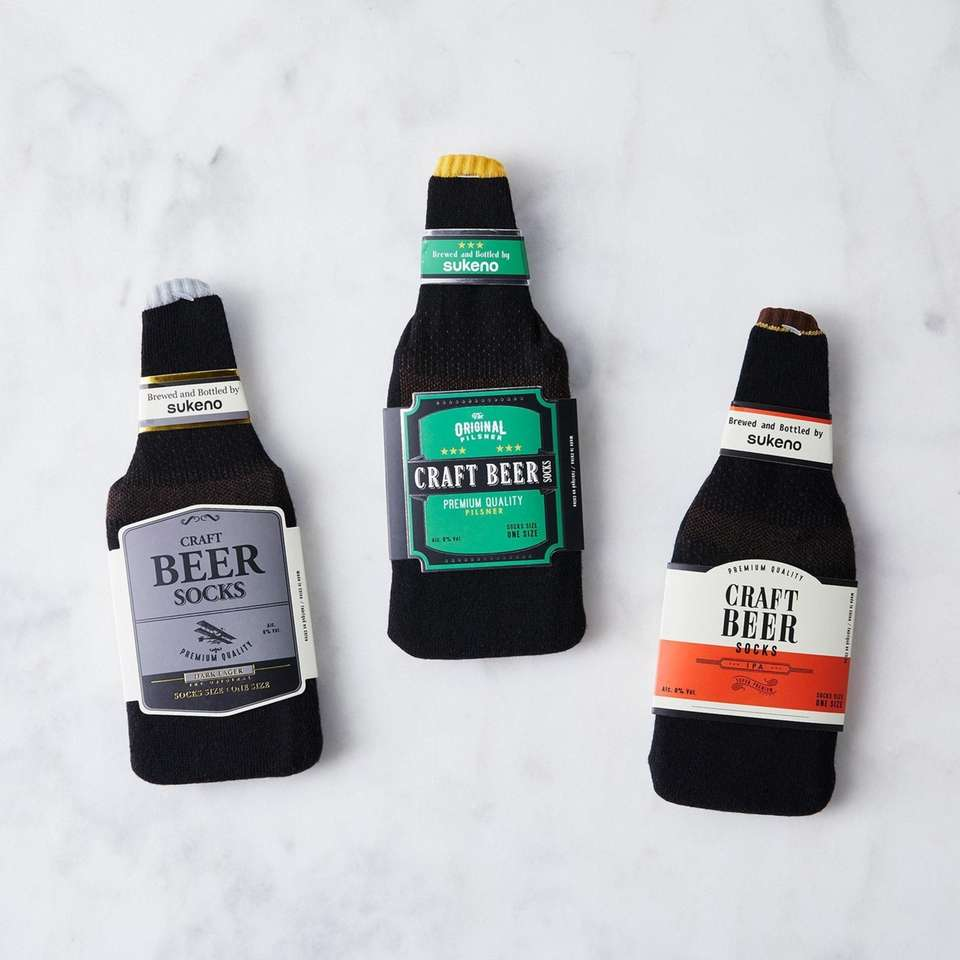 Crack open these fun craft beer socks this