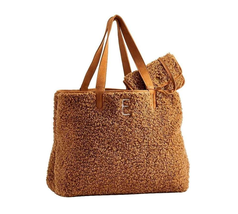 Fuzzy wuzzy sherpa tote is a perfect winter