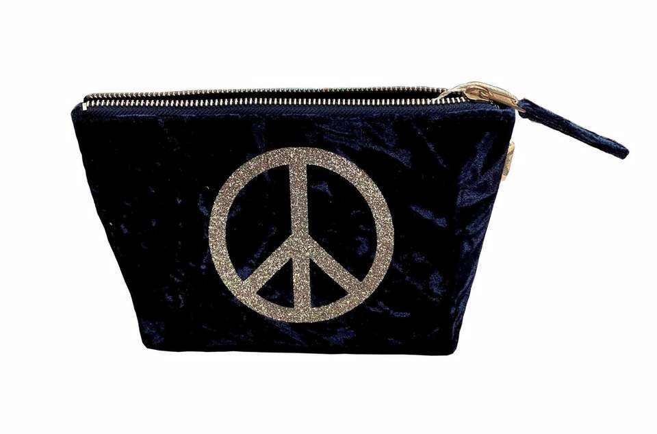 Luxurious blue crushed velvet with a sparkly peace