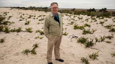 Wayne Horsley at the site of proposed engineered