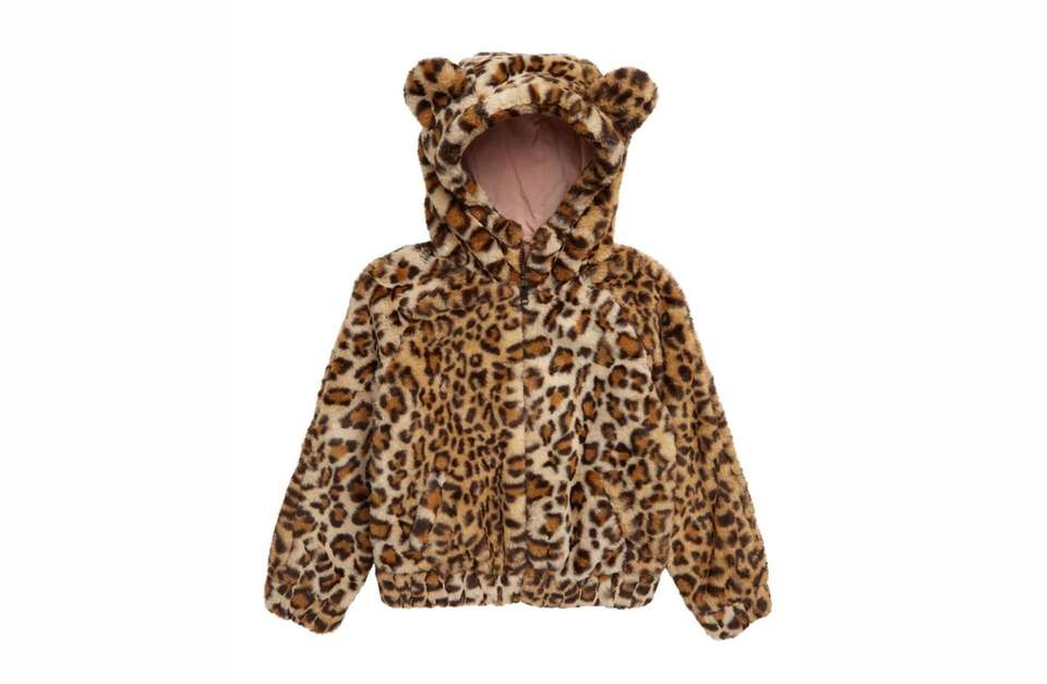 For your little wild one, this fuzzy faux-fur