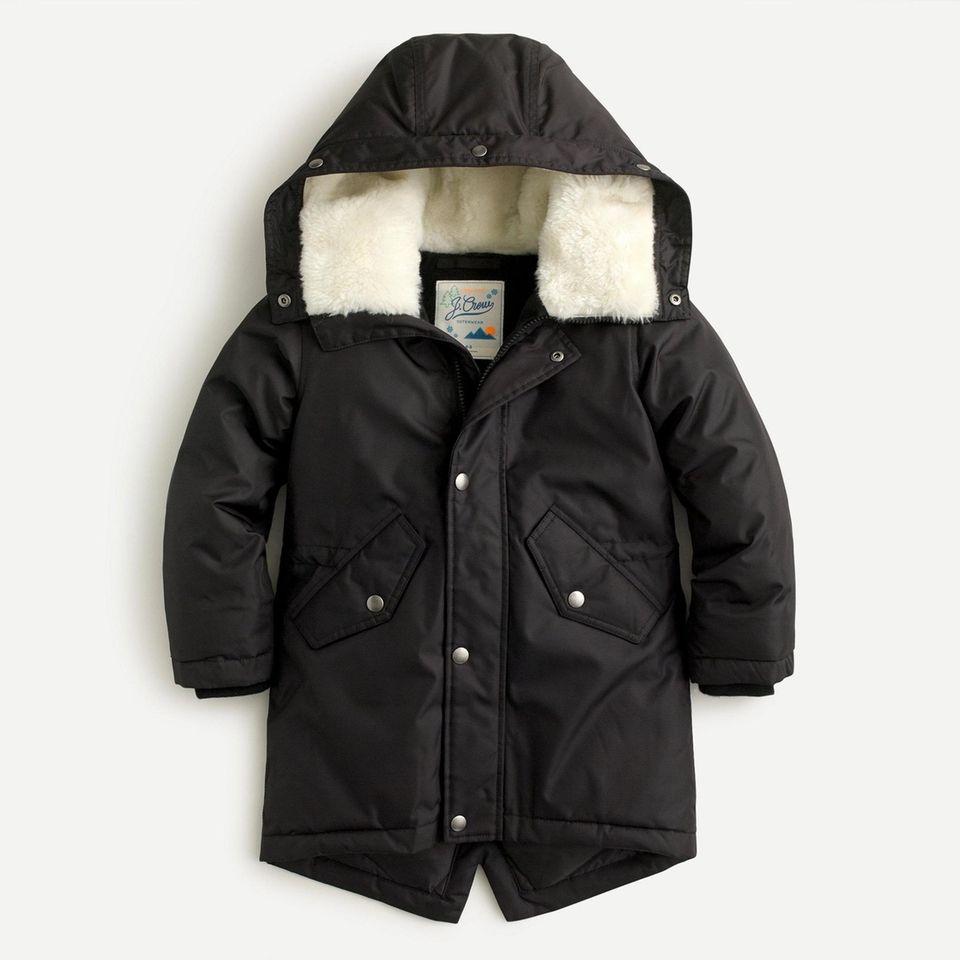 Keep them warm in this kids' fishtail parka;