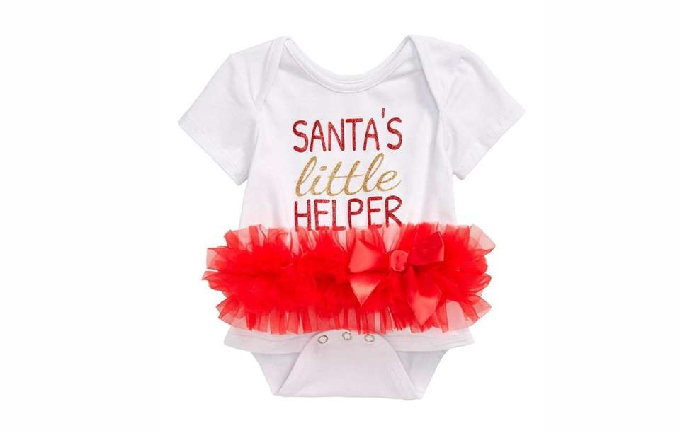 Tutu cute, this basic onesie becomes a holiday