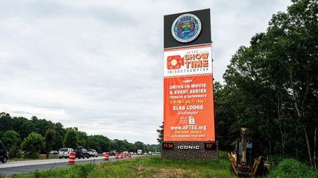The electronic billboard on Sunrise Highway in Southampton