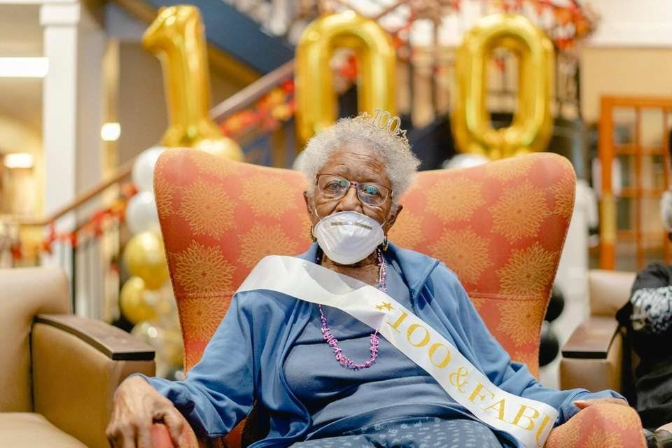 Dominican Village resident Nancy Leftenant-Colon celebrates her 100th