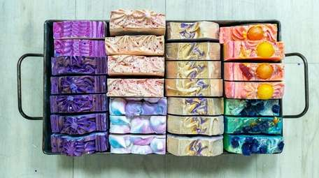 Soaps from the Finch Berry collection at The