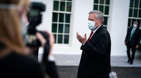 White House Chief of Staff Mark Meadows outside