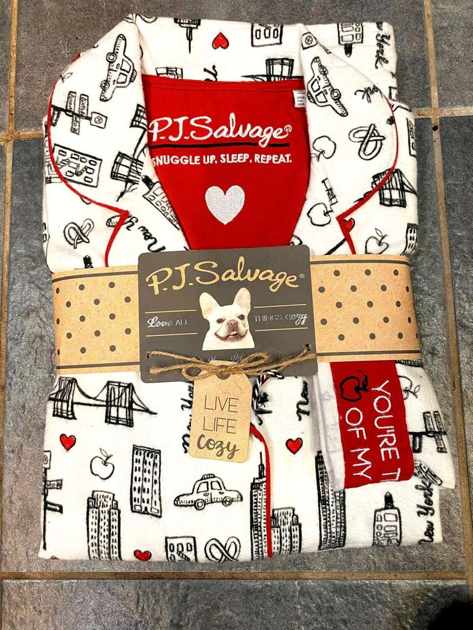 Toasty flannel pajamas in a cute NYC-themed print