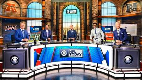 "On the set of CBS' ""The NFL Today"""