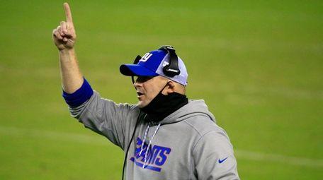 Giants head coach Joe Judge during the fourth