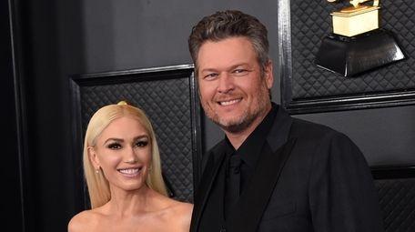Gwen Stefani and Blake Shelton, who met working