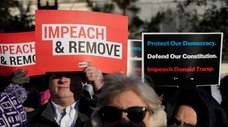 President Donald Trump's conduct led to his impeachment