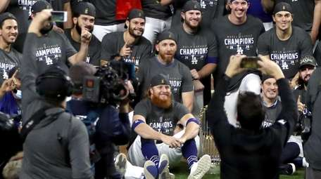 Justin Turner #10 and the Los Angeles Dodgers
