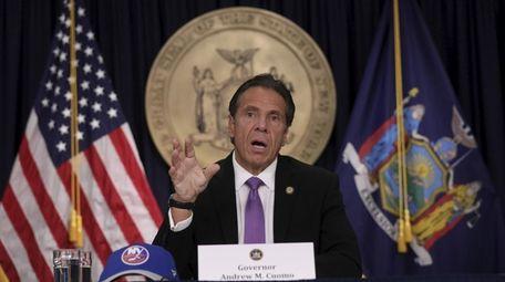 New York Gov. Andrew M. Cuomo announced Wednesday