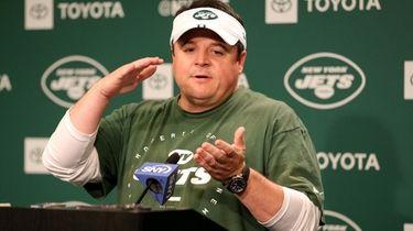 New York Jets offensive coordinator Dowell Loggains speaks
