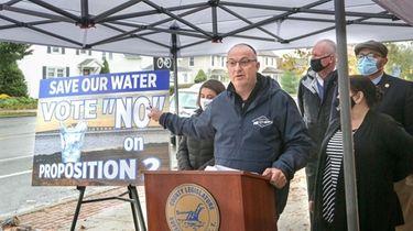 Suffolk County Legis. Robert Trotta held a news