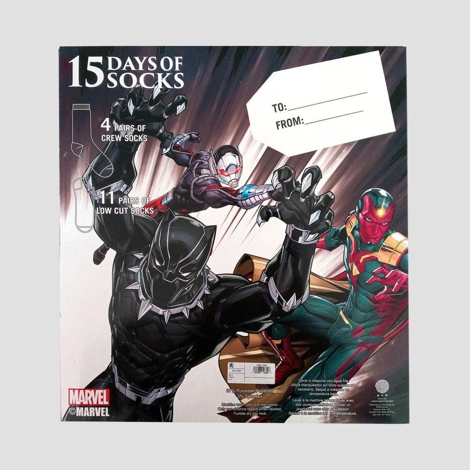 Marvel 15 Days of Socks Advent Calendar: Put