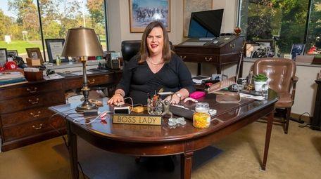 Wynne Nowland in her office at insurance brokerage