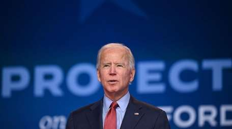 Democratic presidential candidate Joe Biden speaks on healthcare