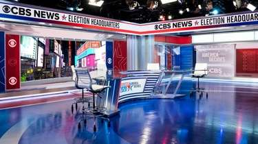 CBS News\' Election Headquarters at ViacomCBS, 1515 Broadway,