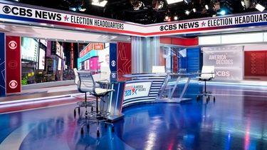 CBS News\' Election Headquarters at ViacomCBS, 1515 Broadway,