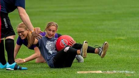 Fifteen teams participated in LI Kick's kickball game