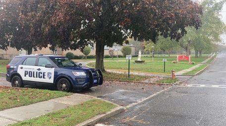 Riverhead police at St. John Paul II Regional