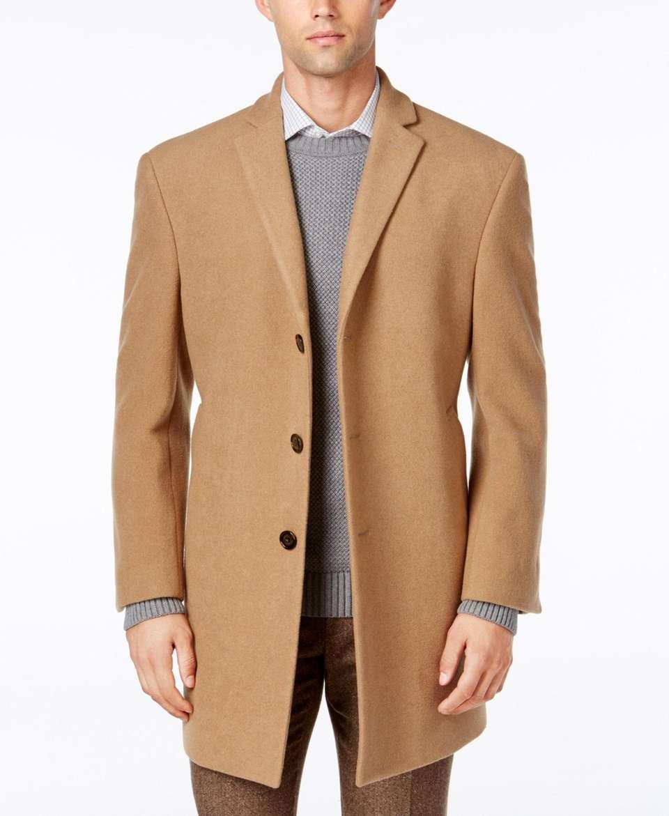 This elegant overcoat is great for work or