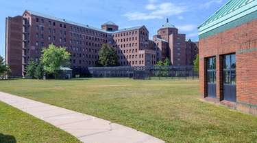 An exterior view of Pilgrim Psychiatric Center facility