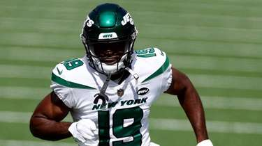 Jets wide receiver Breshad Perriman prior to an