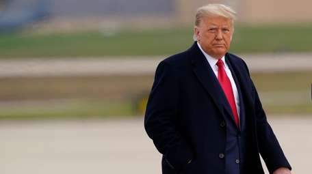 President Donald Trump at Joint Base Andrews in