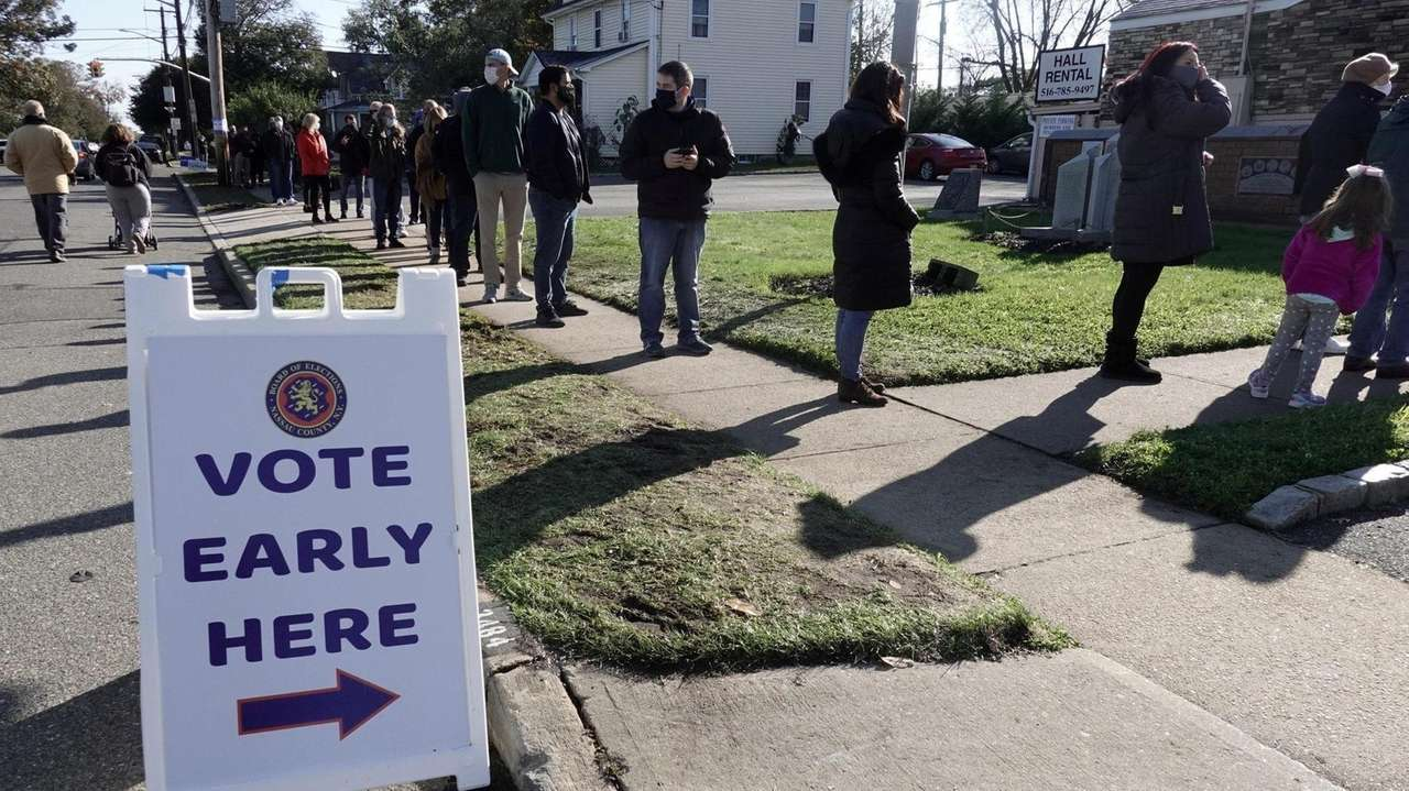 Early voting continued on Saturday, as Long Islanders