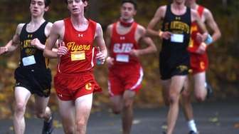 Frank Naudus of Chaminade competes in the Nassau-Suffolk