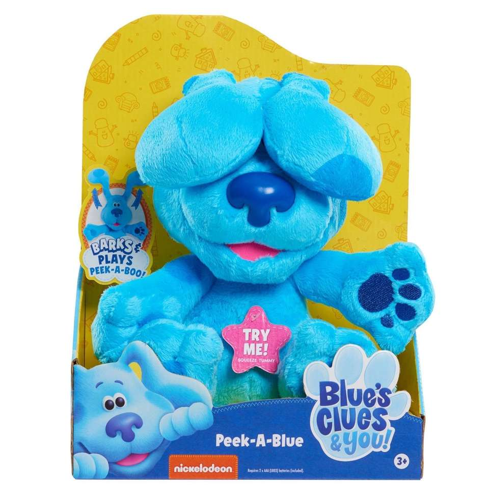 Play peek-a-boo with Blue and Magenta; $24.99 at