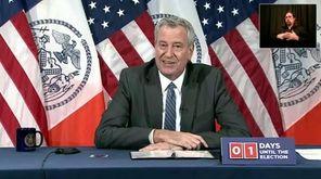 New York City Mayor Bill de Blasio held