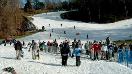 Patrons of Mountain Creek Resort hit the slopes