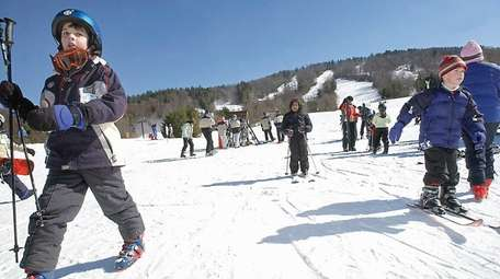 Winter sports enthusiasts fill the trails at Mohawk