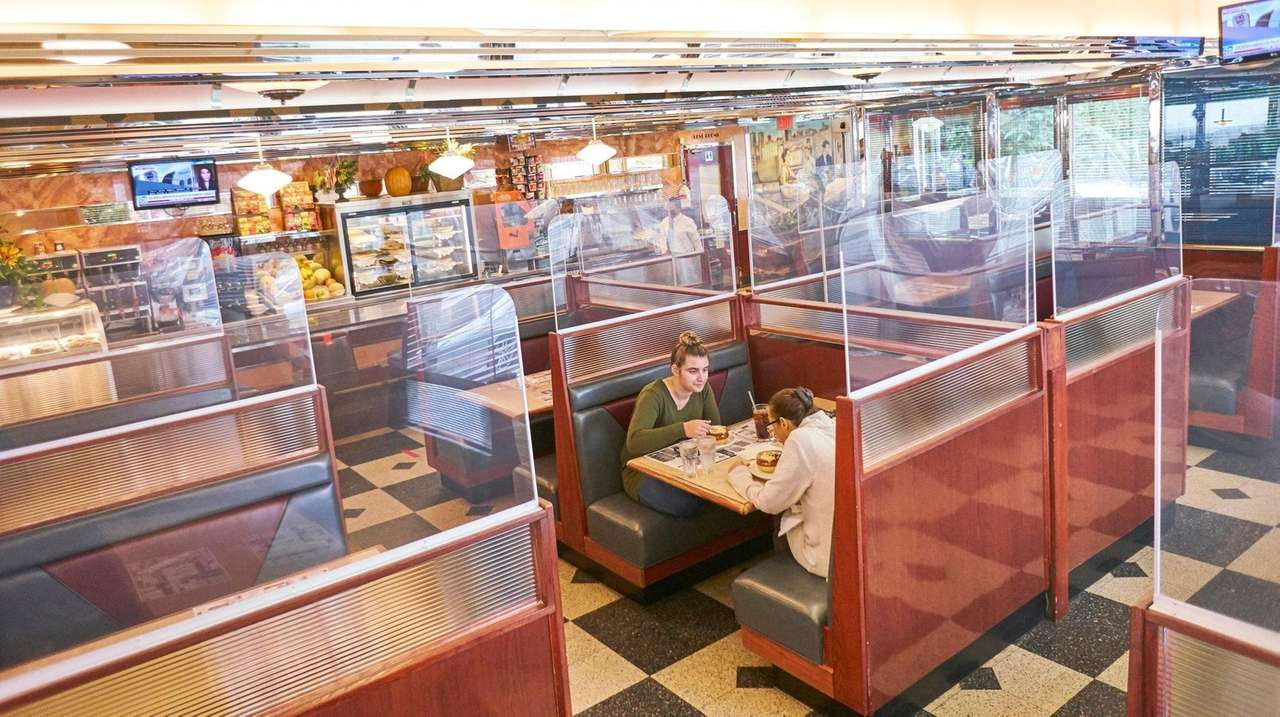 Lake Grove Diner manager Peter Mitsos has added