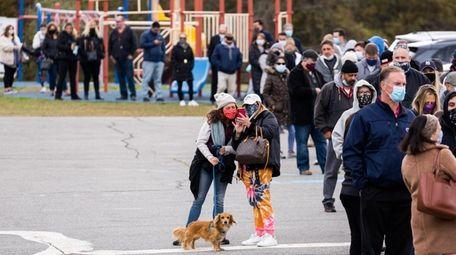 Long Islanders headed to the polls on Tuesday,
