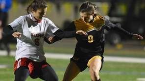 St. Anthony's forward Gina Maucere controls the ball