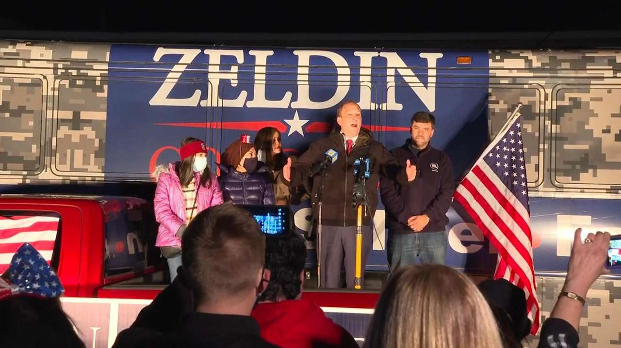 Rep. Lee Zeldin (R-Shirley) claimed victory Wednesday over